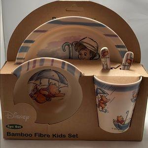 Disney Winnie the Pooh Bamboo Fibre Kids Set